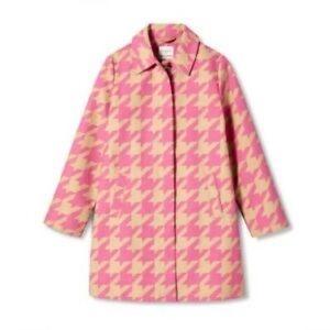 Isaac Mizrahi Pink Houndstooth Jacket Size L